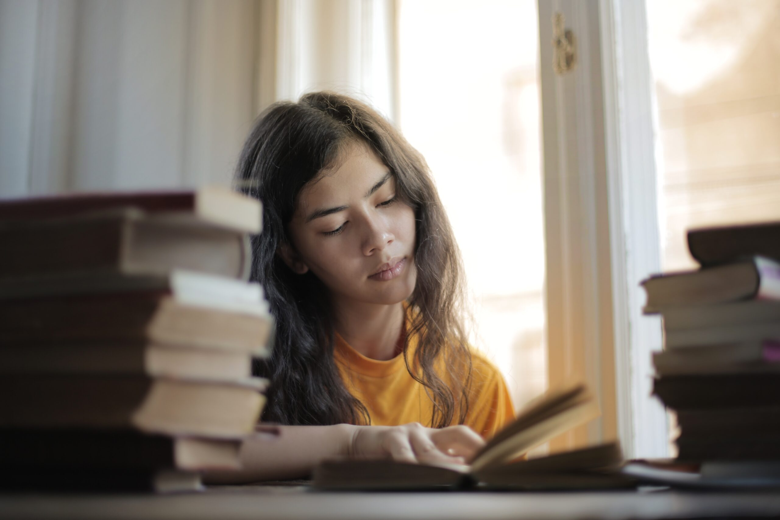Young person studying