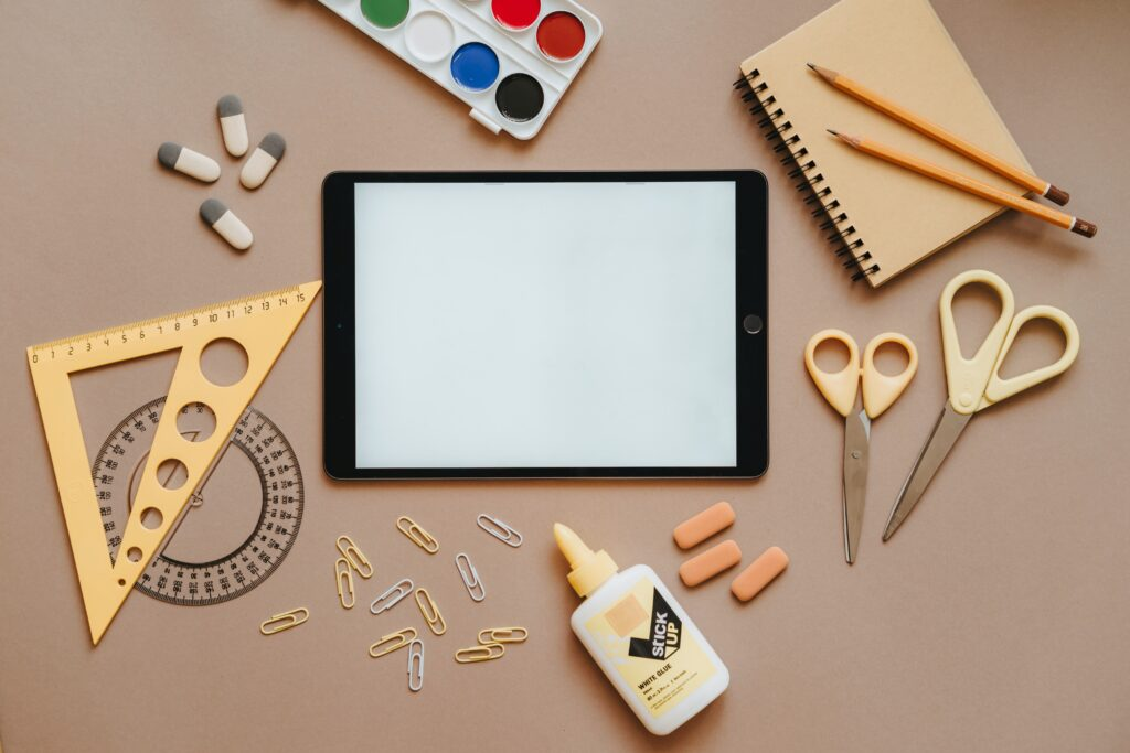 Image of school and art supplies